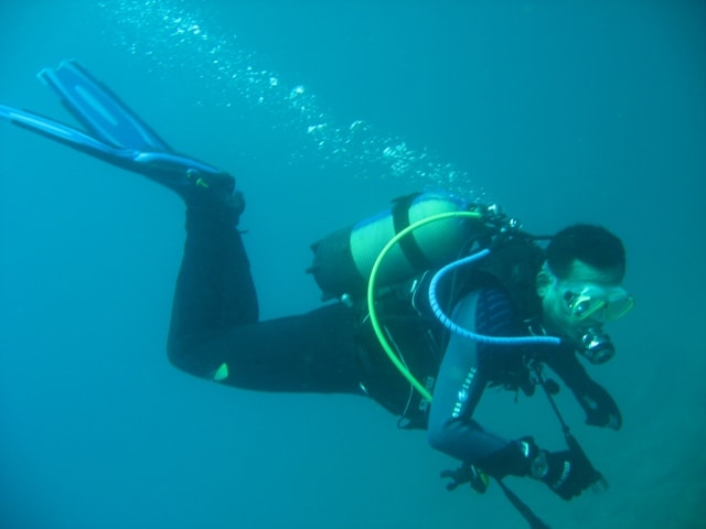 Sports technician in scuba Diving